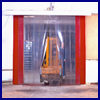 Bi-parting door GM with soft door blades